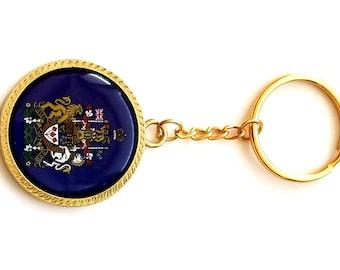 Royal coat of Arm of Canada Metal Keychain