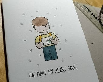Customised birthday, anniversary, valentine's Day card