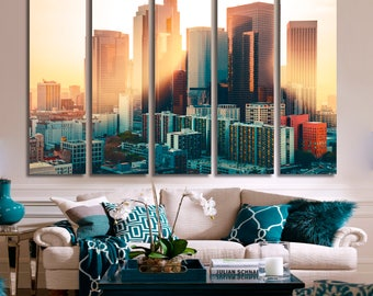 Los Angeles Prints Los Angeles Art California Canvas City on Prints California Cityscape California Skyline California Wall Art Canvas
