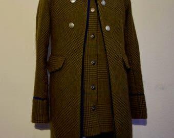 Wool coat with vest