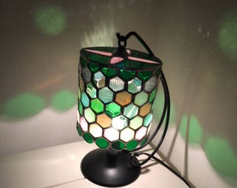 Table lamp Jewel Night Green & Pink Bay View