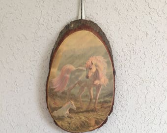 Unicorn Wall Hanging on Wood