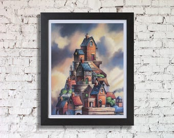 Onward and Upward Framed Print, by Chris Pepper