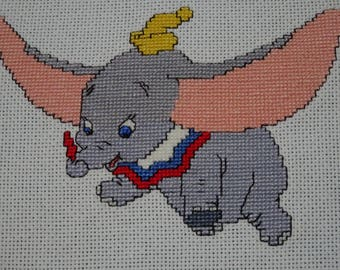 Dumbo Cross Stitch, Finished