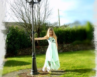 Handmade junior bridesmaid, flower girl dress. Age 9-10