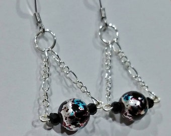 Chain hanging earrings