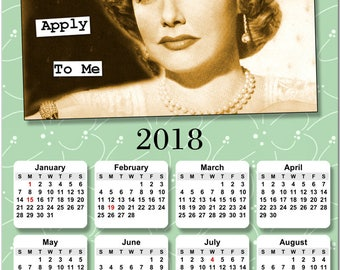 """Retro """"The Rules Don't Apply to Me"""" 2018 Full Year View Calendar - Magnet, Print, Poster  #3858"""