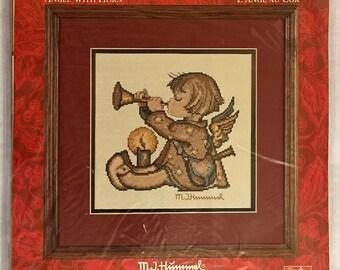 HUMMEL Cross Stitch Kit ~ ANGEL With Horn Needle Treasures JCA 02954