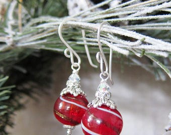 Sihaya Designs Ornaments - Cranberry Swirl in Sterling Silver