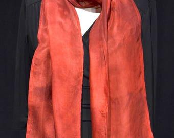 Red Silk Satin Scarf