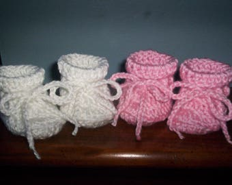 Newborn Baby Booties crocheted Any colors two pair