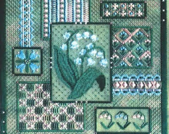 Lily of the Valley Collage - Secret Garden by Laura Perin Pattern