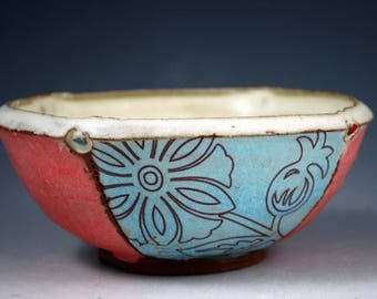 Side Dish Bowl with Floral Pattern