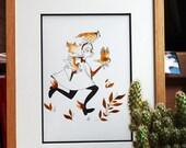 """Illustration originale - encre et aquarelle """"Owls"""""""