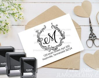 SELF INKING Return Address Stamp, Self-Inking Address Stamp, Wedding Invitation Stamp, Save the Date, Personalized Address Stamp 1075