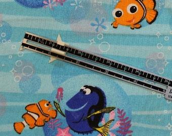 "Finding Nemo  Dory Gill Marlin Disney fabric 100% cotton fabric 42-44"" wide"