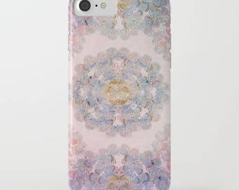 pretty mandala design on iphone X case- Samsung phone case-purple-pink-lilac-affordable holiday gift for her-hard plastic phone case