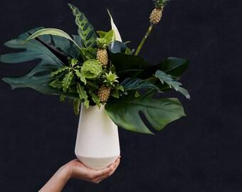 Ivory Speckle Porcelain Vase for your Modern Minimalist Home//Speckle Ceramic Vase for Flowers and Floral Arrangements