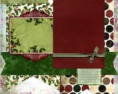 FOR SHELLEY-The Most Wonderful Time of the Year - Premade Christmas Scrapbook Page