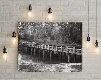 Lafayette Louisiana, Swamp Bridge Art Print, Fishing Bridge, Fishing Gift, Fisherman, Bayou Wall Art, Louisiana Art, Bridge Photography