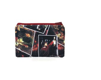 CHOOSE SIZE Harry Potter Movie Scenes Zipper Pouch / Harry Potter and the Sorcerer's Stone Philosopher's / Make Up or Coin Pouch