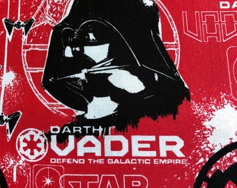 Star Wars Fabric: Camelot Star Wars Rogue One -  Darth Vader - Red - by Camelot - (CA247) - Fabric by the yard
