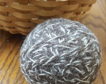 100% Wool Dryer Balls - Brindle (dark brown and beige color)