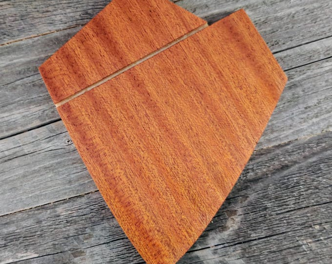 Wooden Pocket Square - Handcrafted from Sapele Wood