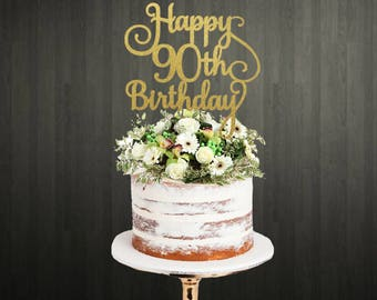 90th Cake Toppers / Cake Topper 90th / Cake Toppers 90th / 90th Birthday Cake Toppers / 90th Cake Topper / Cake Topper / Cake Toppers