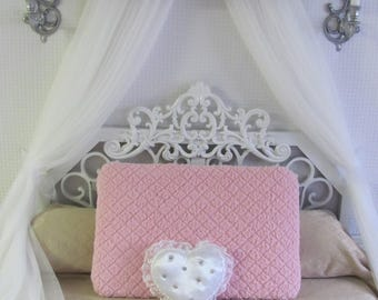 CrOwN Pelmet Upholstered Awning GOLD White PINK Princess Bed Canopy girls bedroom nursery crib FrEe ShiPPinG Custom So Zoey Boutique SALE