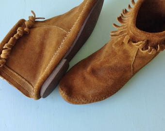 Step Lightly Suede Moccasins | 1980s