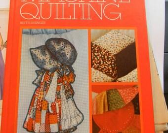 Vintage 1980 Innovative Machine Quilting Book