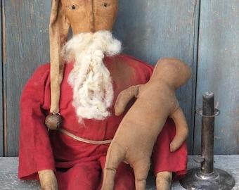 Extreme Primitive Folk Art Santa & Gingerbread
