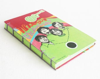 Vintage Book Journal / Recycled Old Book / The Monkees Who's Got the Button Rebound Journal / by PrairiePeasant
