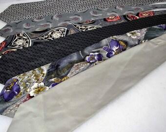 Lot of 6 Men's Designer Silk Neck Ties Neckties - Hunting Horn - Bellini - Gian Carlo Lamberti - Silhouette - Pronto-Uomo