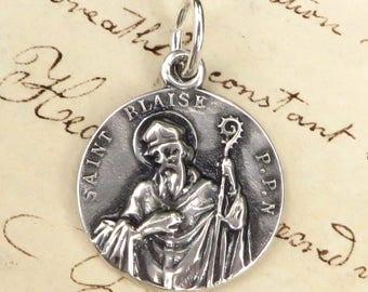 St Blaise Medal - Patron of throat ailments - Antique reproduction