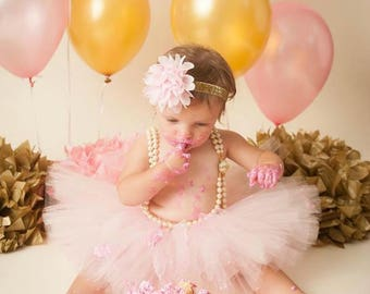 First Birthday Outfit Girl Tutu, Cake Smash Outfit Girl, 1st Birthday Tutu Skirt, Tulle Skirt, SEWN Tutu, First Birthday Tutu, 1st Birthday