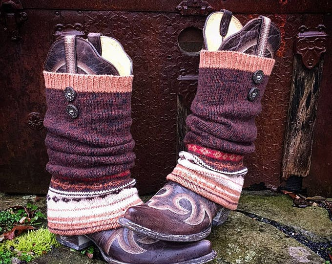 Fair Isle Boot Sweaters ~ Slouch Style ~ Perfect for your favorite boots. Ready to Ship to You