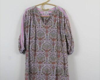 anokhi indian cotton gauze blouse  // ethnic block print tunic // medium blouse