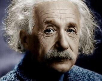 Albert Einstein Colorized Photo