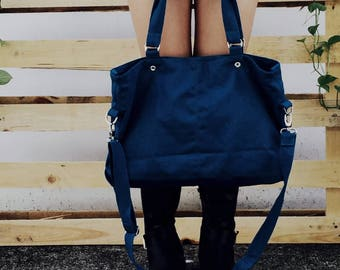 Sale Sale Sale 30% -  Mia in Navy Blue messenger bag,diaper bag,Shoulder bag,laptop bag,tote,women,Gift For Her