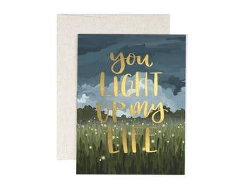 Light Up My Life // Illustrated Card // 1canoe2