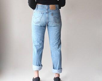 vintage levi jeans   distressed levis boyfriend jeans, waist 32