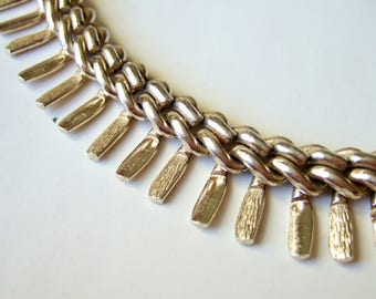 Modernist 1960s Necklace - Mid Century Collar Length Chain with Spikes - Made in Germany