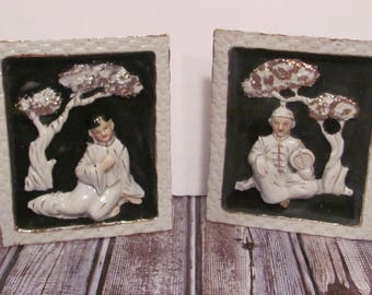 Vintage Asian Wall Plaques