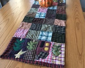 Primitive 15 X 42 Quilted Rustic Table Runner