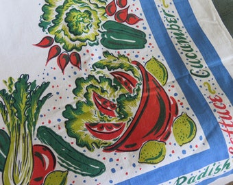 Vintage Salad Dressing Tablecloth HTF