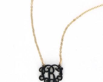 Heartstrings Small Interlocking Monogram Acrylic Necklace