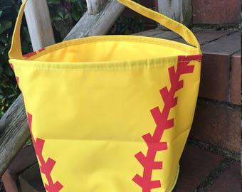 Softball Easter Bucket~Toy Bucket-Softball Bag-Monogram included