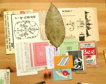 NEW - Vintage Beige Mix - assemblage supplement / scrapbooking / collage kit (1 medium set of paper stock)